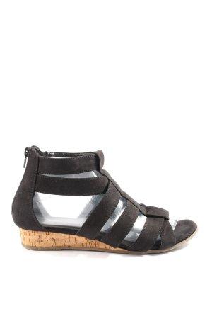 Ariane Sandalo toe-post nero-color carne stile casual