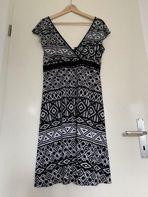Arianne Empire Dress black-white