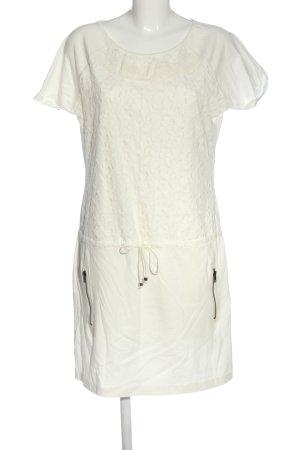 ariston Robe à manches courtes blanc cassé style décontracté