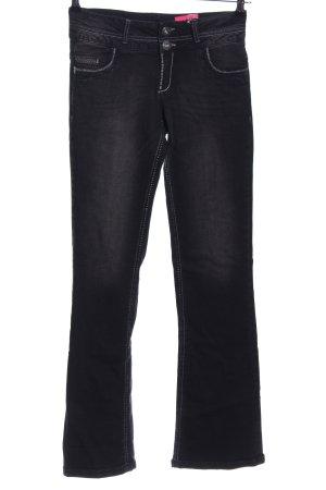 Arizona Boot Cut Jeans black printed lettering casual look