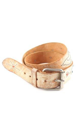 Leather Belt nude casual look