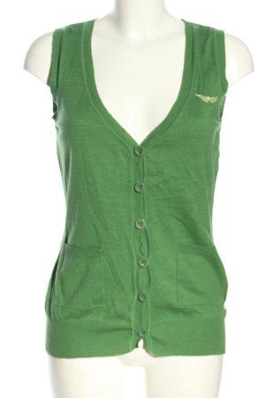 Arizona Cardigan en maille fine vert style décontracté