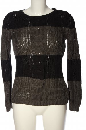 Arizona Grobstrickpullover schwarz-khaki Zopfmuster Casual-Look