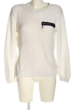 Arizona Szydełkowany sweter biały W stylu casual