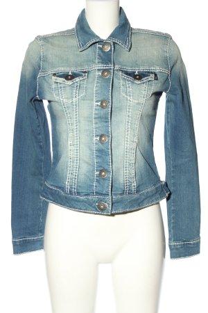 Arizona Veste en jean bleu-blanc style décontracté