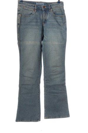 Arizona Jeansschlaghose blau Casual-Look