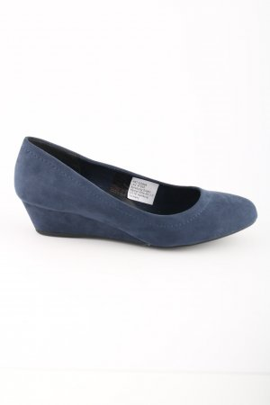 Arizona Keil-Pumps blau Casual-Look