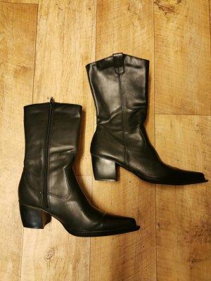 Arizona Botas estilo vaquero negro Imitación de cuero