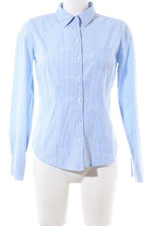 Arizona Langarm-Bluse weiß-blau Streifenmuster Business-Look