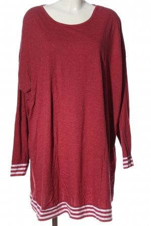 Arizona Top à manches longues rouge-blanc moucheté style décontracté