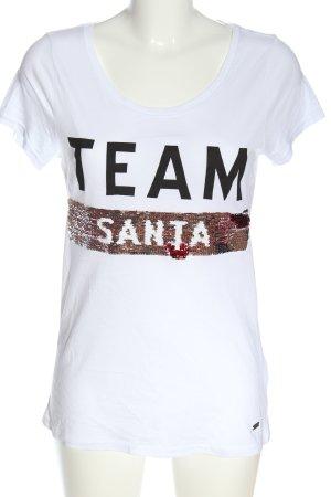 Arizona T-shirt imprimé noir-blanc lettrage imprimé style décontracté