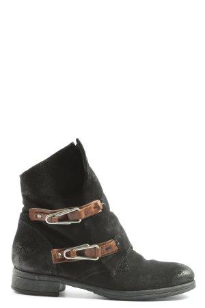 Arizona Reißverschluss-Stiefeletten schwarz Casual-Look