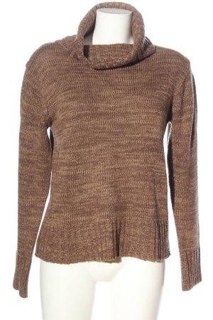 Arizona Turtleneck Sweater brown flecked casual look