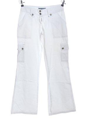 Arizona Pantalon pattes d'éléphant blanc style décontracté