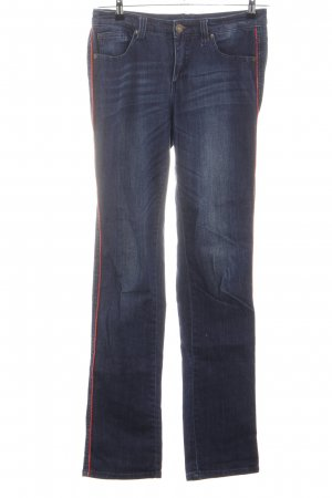 Arizona Slim Jeans blau-rot Casual-Look