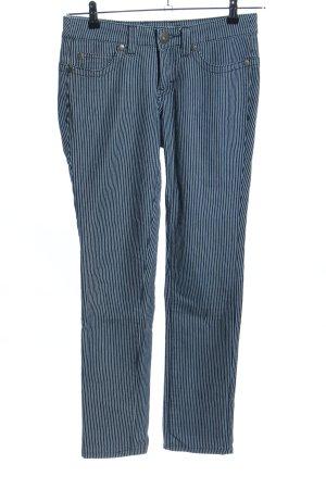 Arizona Slim Jeans blau-weiß Streifenmuster Casual-Look