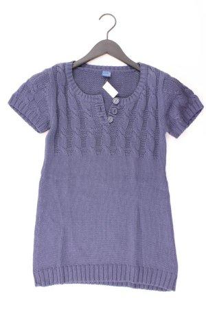 Arizona Strickkleid Größe 36/38 Kurzarm blau aus Baumwolle