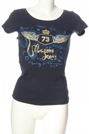 Arizona T-Shirt blue-gold-colored themed print casual look