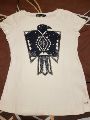 Arizona T-Shirt natural white-dark blue