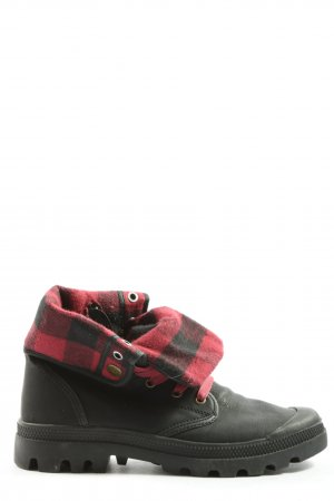 Arizona Winter Booties black-red check pattern casual look