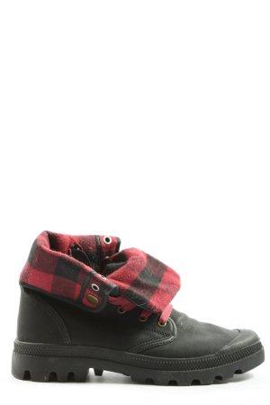 Arizona Buty zimowe czarny-czerwony Wzór w kratkę W stylu casual