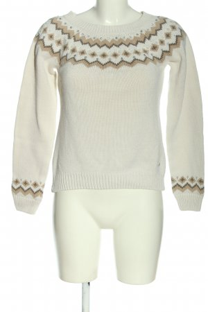 Arizona Cable Sweater natural white-brown graphic pattern casual look