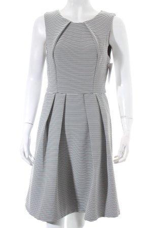 Ark & Co Robe trapèze noir-blanc motif rayé élégant