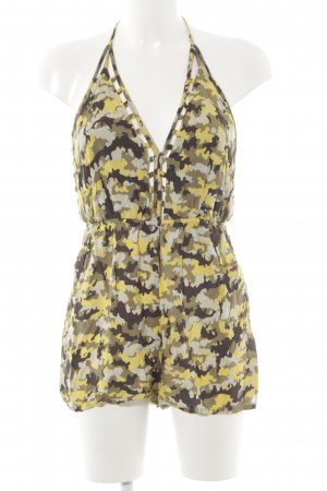 Ark & Co Jumpsuit camouflageprint casual uitstraling