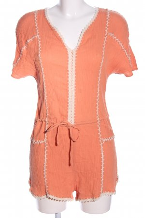 Ark & Co Jumpsuit hellorange-wollweiß Casual-Look