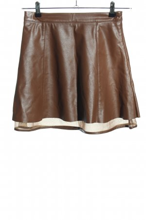 Ark & Co Faux Leather Skirt brown casual look