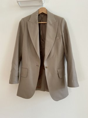 ARKET Wool Blazer grey brown-beige