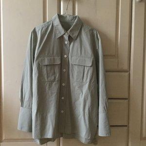 ARKET Camicia blusa verde-grigio Cotone