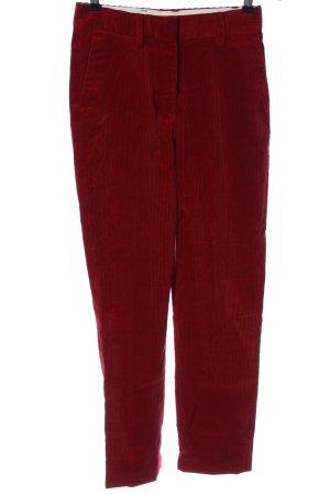 ARKET Spodnie sztruksowe czerwony W stylu casual