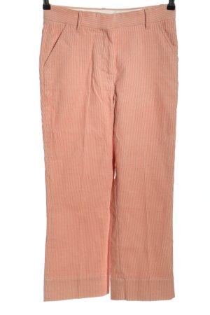 ARKET Cordhose pink-weiß Streifenmuster Casual-Look