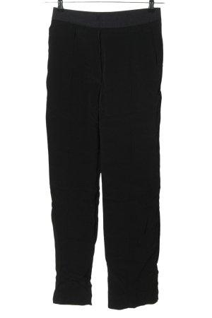 ARKET Spodnie z wysokim stanem czarny Styl klasyczny