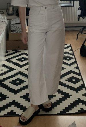 ARKET High Waist Jeans white cotton