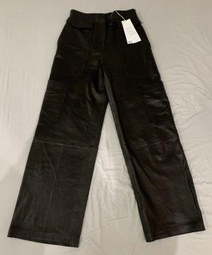 ARKET Highwaist Wide Leg Lederhose 36 NEU