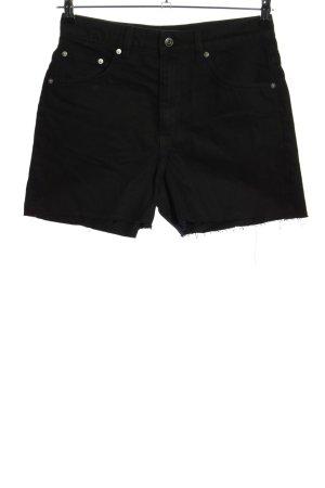 ARKET Jeansowe szorty czarny Wzór w paski W stylu casual