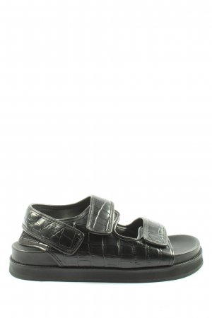 ARKET Sandalo comodo nero motivo animale stile casual