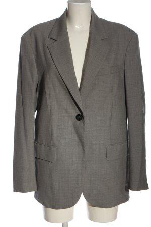 ARKET Blazer lungo grigio chiaro puntinato stile professionale