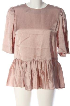 ARKET Short Sleeved Blouse brown elegant