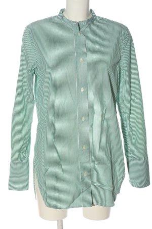 ARKET Camicia a maniche lunghe verde-bianco motivo a righe stile professionale