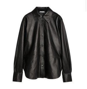 ARKET Leather Shirt black