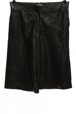 ARKET Pantalone in pelle nero stile casual
