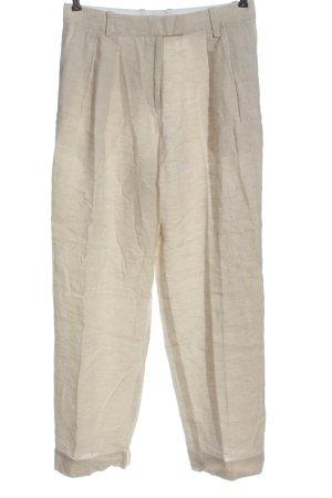 ARKET Pantalon en lin blanc cassé style classique