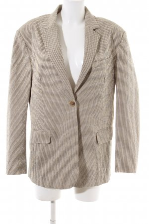 ARKET Long Blazer cream-black check pattern casual look