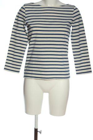ARKET Longsleeve white-blue striped pattern casual look