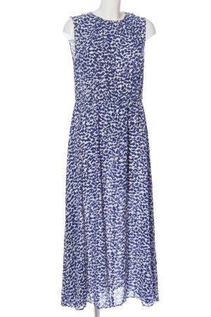 ARKET Maxi abito blu-bianco motivo astratto stile casual