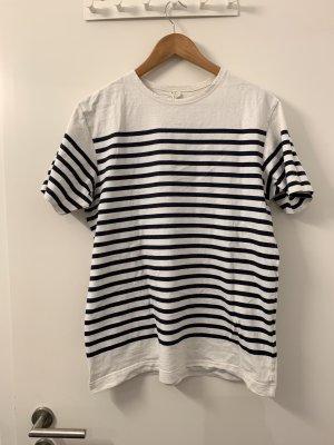 ARKET T-shirt bianco-blu Tessuto misto