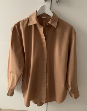 ARKET Blouse-chemisier brun-marron clair coton